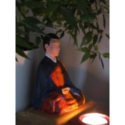 Statue zazen veksido peinte version Homme