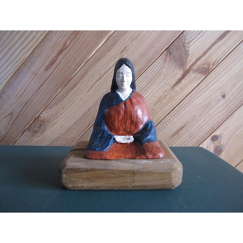 Statue zazen veksido peinte version Femme