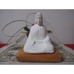 Statue zazen veksido non-peinte version Femme